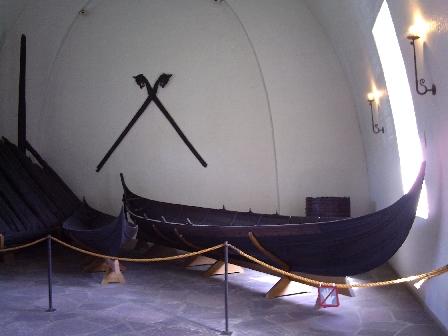 Viikinkilaivamuseossa